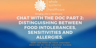 Chat with the Doc Part 2: Distinguishing between food intolerances, sensitivities and allergies