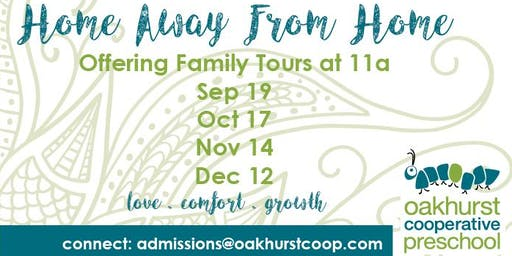 Family Tours at Oakhurst Cooperative Preschool
