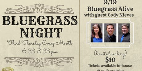 "Bluegrass Night with ""Bluegrass Alive"" tickets"