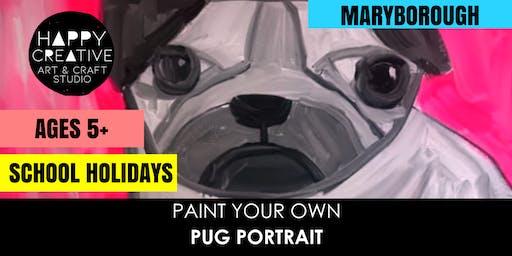 Pug Portrait (Ages 5+)