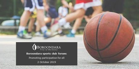 Boroondara sports club forum: Promoting participation for all tickets