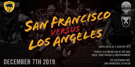 Los Angeles v San Francisco - California Rugby League tickets