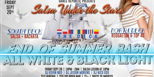 End of Summer Bash / All White + Black Light / Boat Party