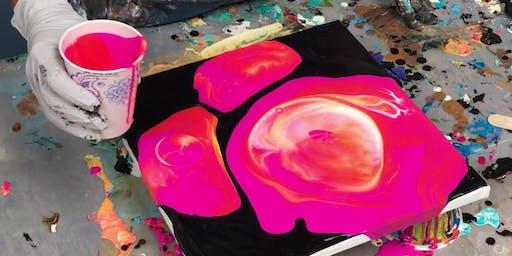 Acrylic Pour Class  #3 - 8 x 10 pours