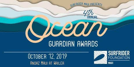 Surfrider Maui's 4th Annual Ocean Guardian Awards Gala tickets