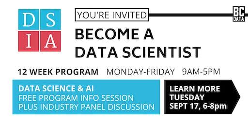 Career Change to Data Science & AI - 12-week Program - Free Program Info Session