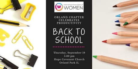 """IAW Orland Park presents """"Back to School"""" tickets"""