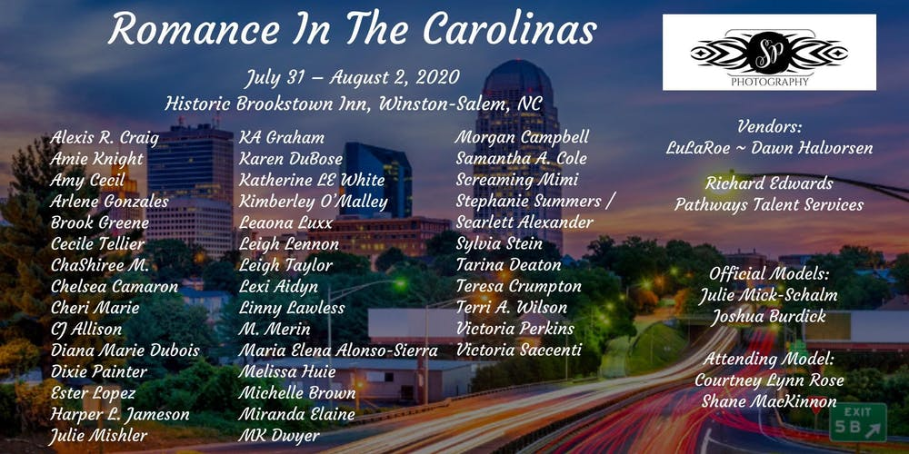 Romance Author Signing Events 2020.Romance In The Carolinas 2020 Tickets Fri Jul 31 2020 At