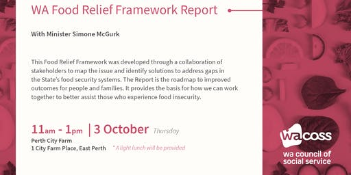 WA Food Relief Framework Report Launch
