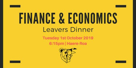 Finance and Economics Leavers Dinner  tickets