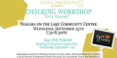 Chalking Workshop - September
