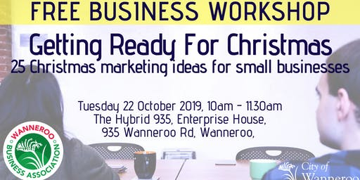 FREE business workshop - Getting Ready for Christmas