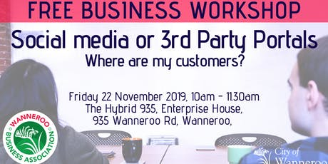 FREE business workshop - Social Media or 3rd Party Portals? tickets