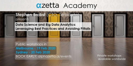 Data Science & Big Data Analytics: Best Practices and Pitfalls - Melbourne