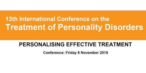 13th International Treatment of Personality Disorders Conference 2019