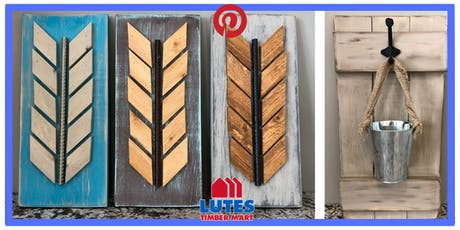 High River Lutes TimberMart Pinterest:  Wood Feathers/Hanging Plant Board tickets