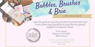 Bubbles Brushes & Brie - 7th December