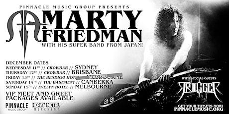 Marty Friedman - Melbourne (15th December TRIGGER Discount Tickets) tickets