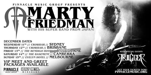 Marty Friedman - Melbourne (13th December TRIGGER Discount Tickets)