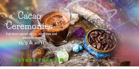 Cacao Ceremonies, Sacred Medicines & Sound Healing tickets