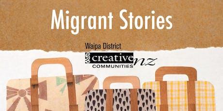 Migrant Stories, a digital storytelling workshop. tickets
