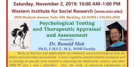 Psychological Testing & Therapeutic Appraisal  & Assessment Seminar/Webinar tickets