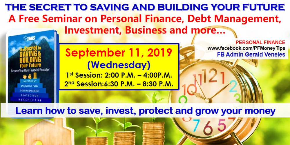 Saving and Building Your Future - Makati 2pm Tickets, Wed