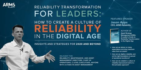 Reliability Transformation for Leaders tickets