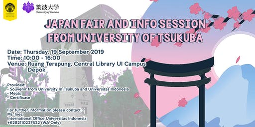 Japan Fair and Info Session  from University of Tsukuba
