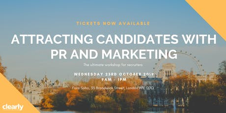 Attracting candidates with PR and marketing tickets