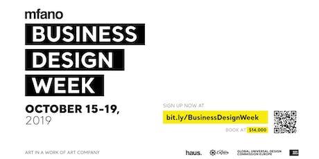Business Design Week tickets