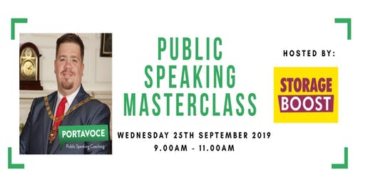 Public Speaking Masterclass