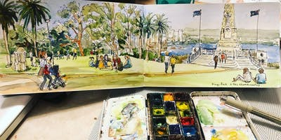 Sketching on location