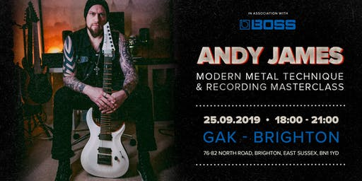 Andy James Masterclass. GAK - Brighton