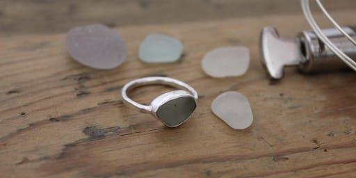 Silversmithing Sea Glass Setting Class