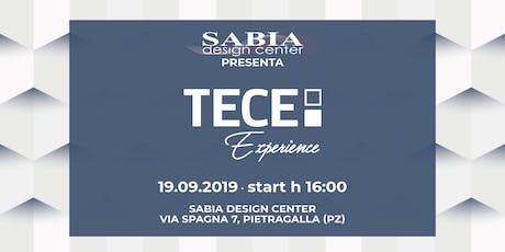 TECE EXPERIENCE al Sabia Design Center biglietti