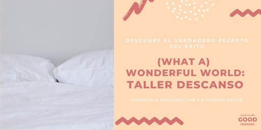 Taller Descanso: WONDERFUL WORLD
