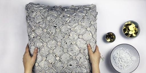 DIY Workshop- Knöpfe dein Kissen ohne Nähte!