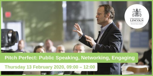 Pitch Perfect: Public Speaking, Networking, Engaging