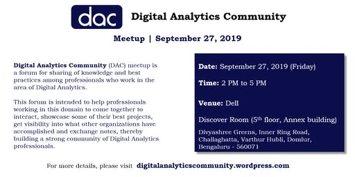 Digital Analytics Community (DAC) meetup at Dell Technologies