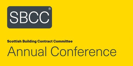 Scottish Building Contract Committee: Annual Conference 2019 tickets