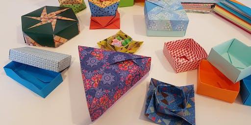 Origami boxes - workshop