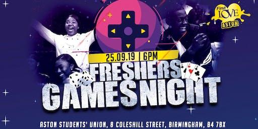 FRESHERS' GAMES NIGHT