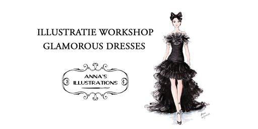 Workshop mode illustraties - thema glamorous dresses