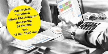 Masterclass inrichten Minox RGS Analyzer (klantspecifiek dashboard) tickets