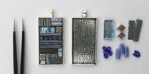 Mosaic Pendant Workshop with Rachel Davies Mosaics
