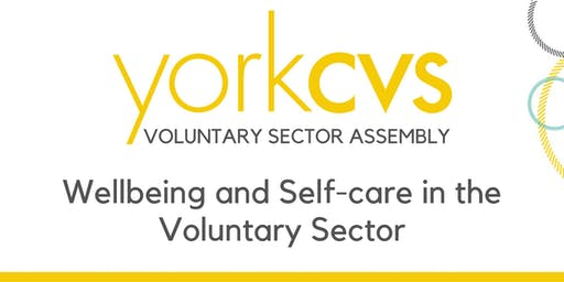 Voluntary Sector Assembly - Wellbeing and Self-care in the Voluntary Sector
