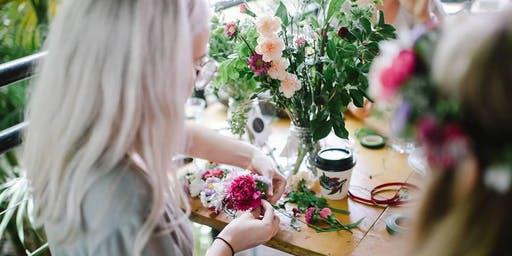 Flower Crown Making in the Spring