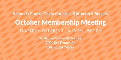 ACCCOS October Membership Meeting tickets