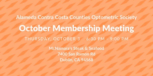 ACCCOS October Membership Meeting